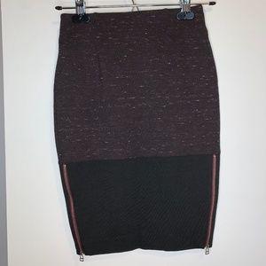 NWOT Aritzia Wilfred Campagne Burgundy Marle Skirt